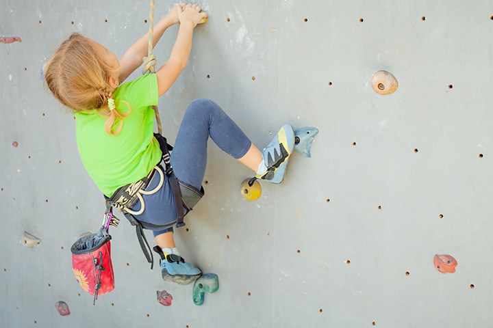 Winter Kid's Birthday Party Ideas - Indoor Rock Climbing - The Beachouse