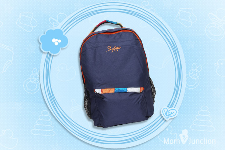 Skybag Blue & Orange Backpack