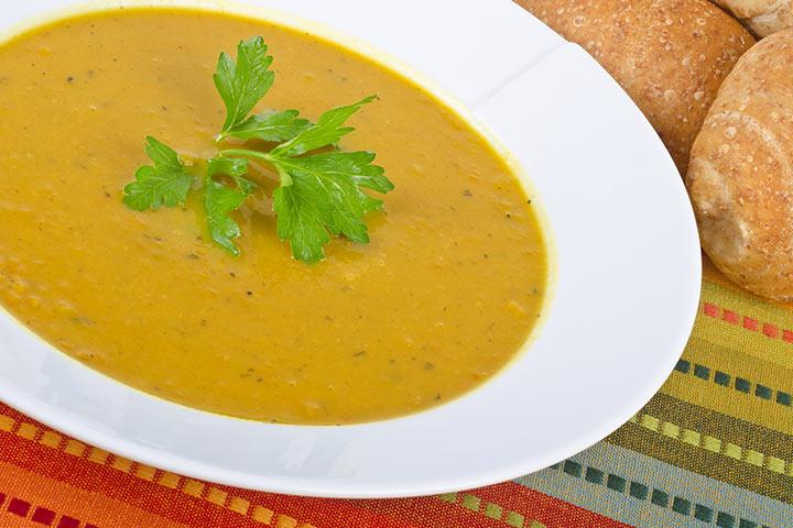 Sweet Potato And Yellow Split Pea Soup