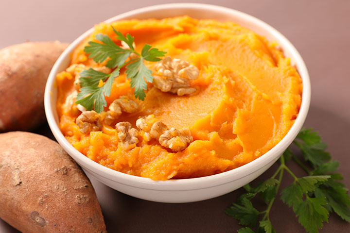 Sweet potato and carrot puree