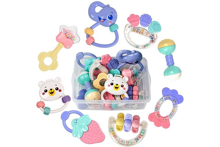 TUMAMA Baby Rattles Teether Toys