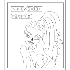 Zombie Gaga Coloring Pages