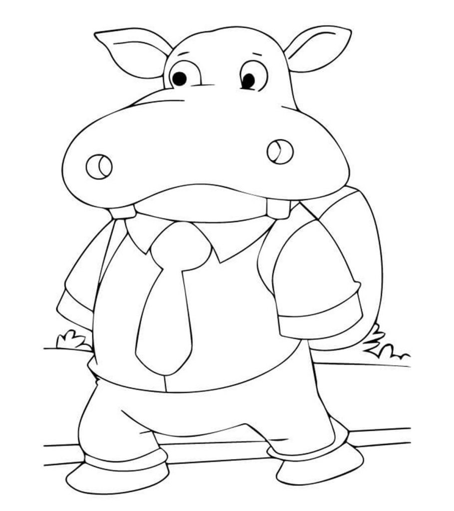 hippo coloring pages | 10 Cute Free Printable Hippo Coloring Pages For Toddlers