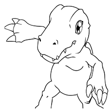 agumon - Digimon Coloring Pages