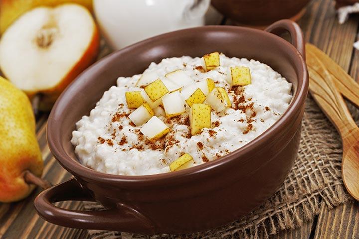 Millet For Babies - Apple Pear Millet Porridge