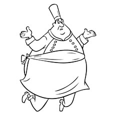 auguste gusteau coloring page - Ratatouille Coloring Pages