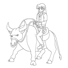 bullriding coloring pages - photo#14