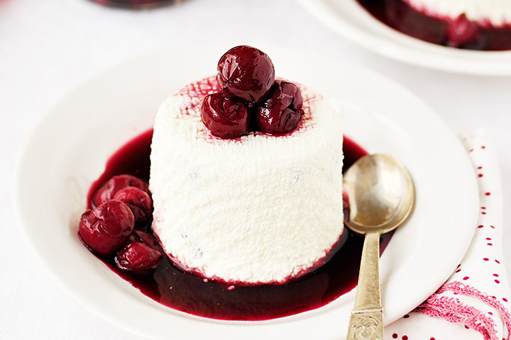 Cherry Puree With A Dash Of Cottage Cheese