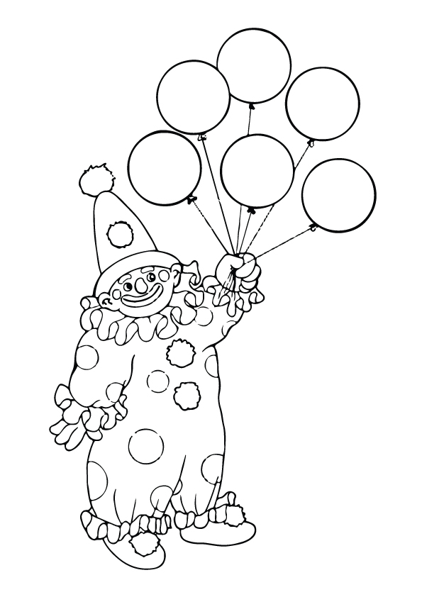 Clown-With-Balloons