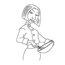 colette tatou coloring pages - Ratatouille Coloring Pages