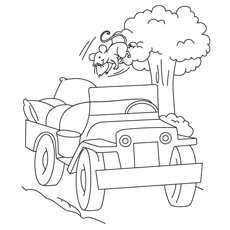 jeep coloring pages comanche jeep - Jeep Coloring Pages
