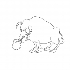 Cute Snorting Bull
