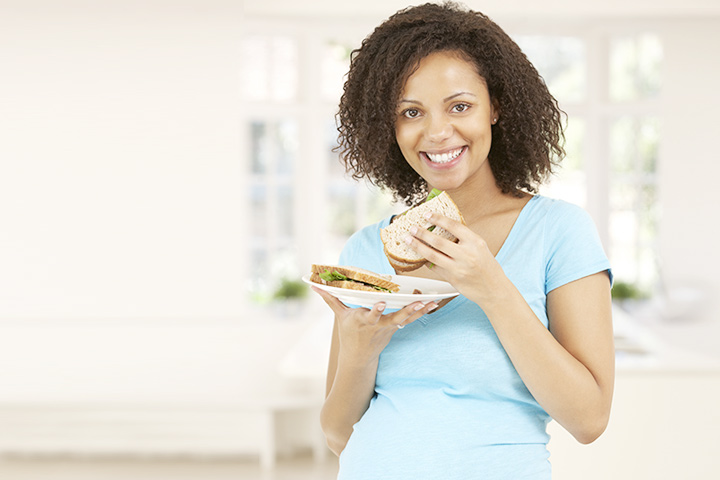 Image result for pregnant woman eating wholemeal""