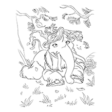 10 cute ice age coloring pages for your