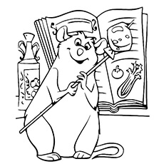 ratatouille movie character emile coloring sheet - Ratatouille Coloring Pages