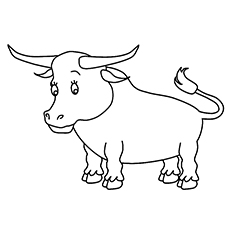 bull coloring pages 10 Cute Bull Coloring Pages For Your Toddler bull coloring pages