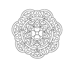 Rangoli Coloring Pages | Rangoli patterns, Pattern coloring pages ... | 230x230