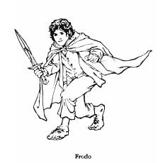 Printable Lord Of The Rings Frodo Coloring Pages