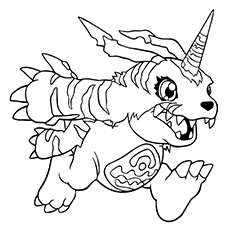 digimon coloring pages gabumon - Digimon Coloring Pages