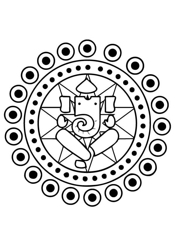 Ganesh-Rangoli
