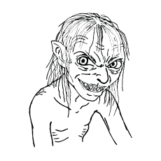 Gollum from Lord Of The Rings Coloring Pages