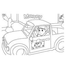 jeep coloring pages handy manny