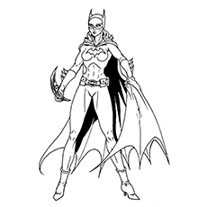 helena bertinelli - Supergirl Coloring Pages Kids
