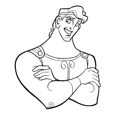 hercules picture to color