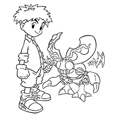 digimon coloring pages izzy izumi - Digimon Coloring Pages