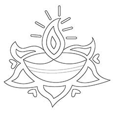 Lamp-Rangoli