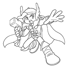 Little Thor Coloring Page to Print