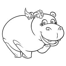 hippo coloring pages hyacinth lizzie - Hippo Coloring Pages
