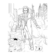 Loki Coloring Page Printable