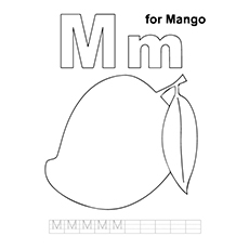 mango coloring pages m for mango