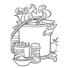 making ratatouille coloring page - Ratatouille Coloring Pages