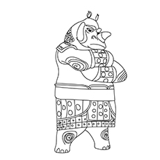 Master Rhino Coloring pages