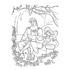 coloring page of megara and hercules