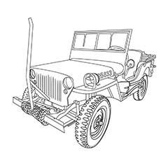 army jeep coloring pages | Top 10 Free Printable Jeep Coloring Pages Online