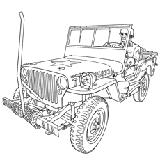 jeep coloring pages military jeep