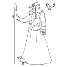 Odin Printable Coloring Page to Print