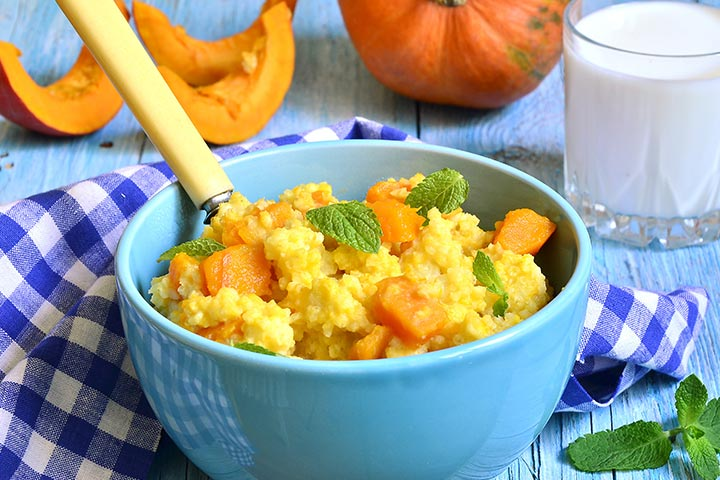 Millet For Babies - Organic Pumpkin Millet Porridge