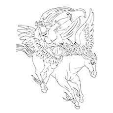 Pegasus Coloring Pages | Unicorn coloring pages, Unicorn barbie ... | 230x230