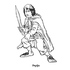 Lord Of The Rings Peregrin Took Coloring Pages