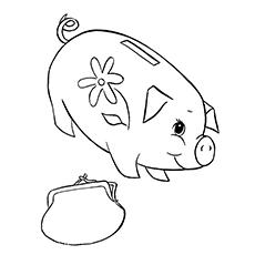 Piggy Bank And A Purse