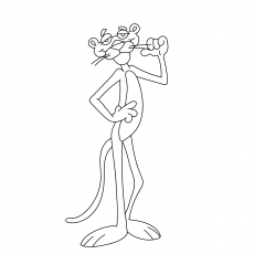 Top 10 Pink Panther Coloring Pages For Your Toddler