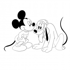 Pluto With Mickey