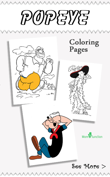 10 Cute Popeye Coloring Pages For Your Little Ones