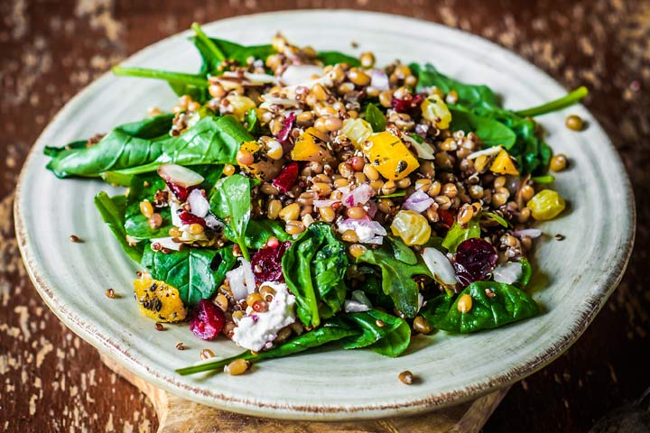Quinoa, Walnut, And Spinach Stir-Fry