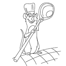 Remy Coloring Pages