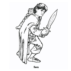 Lord of Rings Character Samwise Coloring Pages